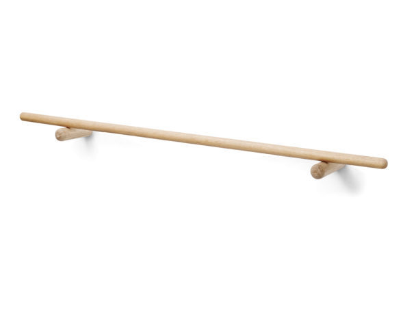 Skagerak Georg Slim Wall Coat Rack - Long - Oak - 45""