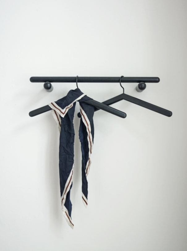 Skagerak Georg Slim Wall Coat Rack - Short - Black Oak - 24""