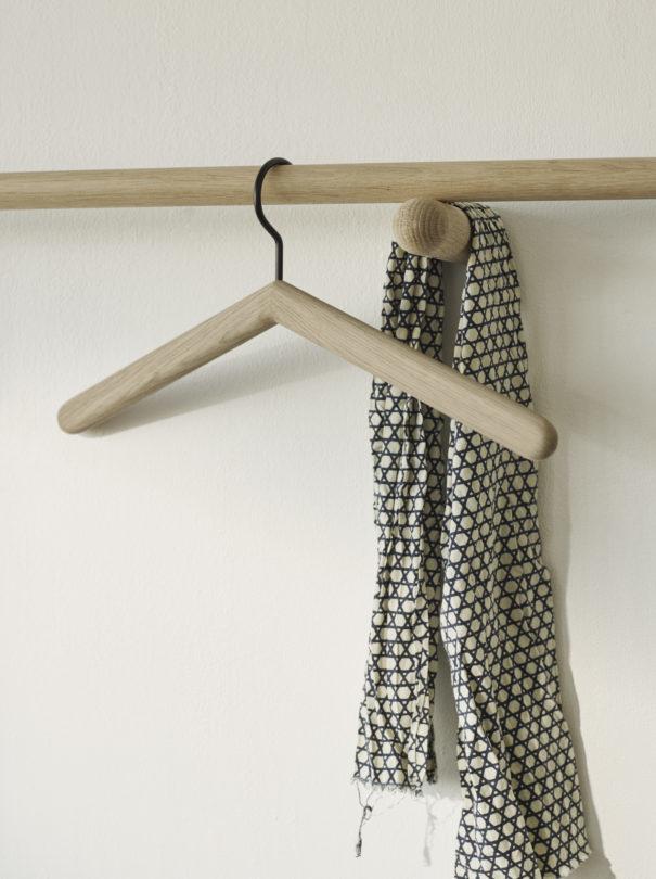"Skagerak Georg Slim Wall Coat Rack - Short - Oak - 24"""