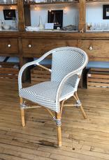Sika-Design Madeleine Rattan Bistro Arm Chair - White