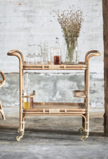 Sika-Design Carlo Rolling Rattan Bar Cart