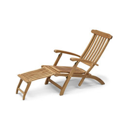 Skagerak Adjustable Outdoor Steamer Deck Chair - Teak