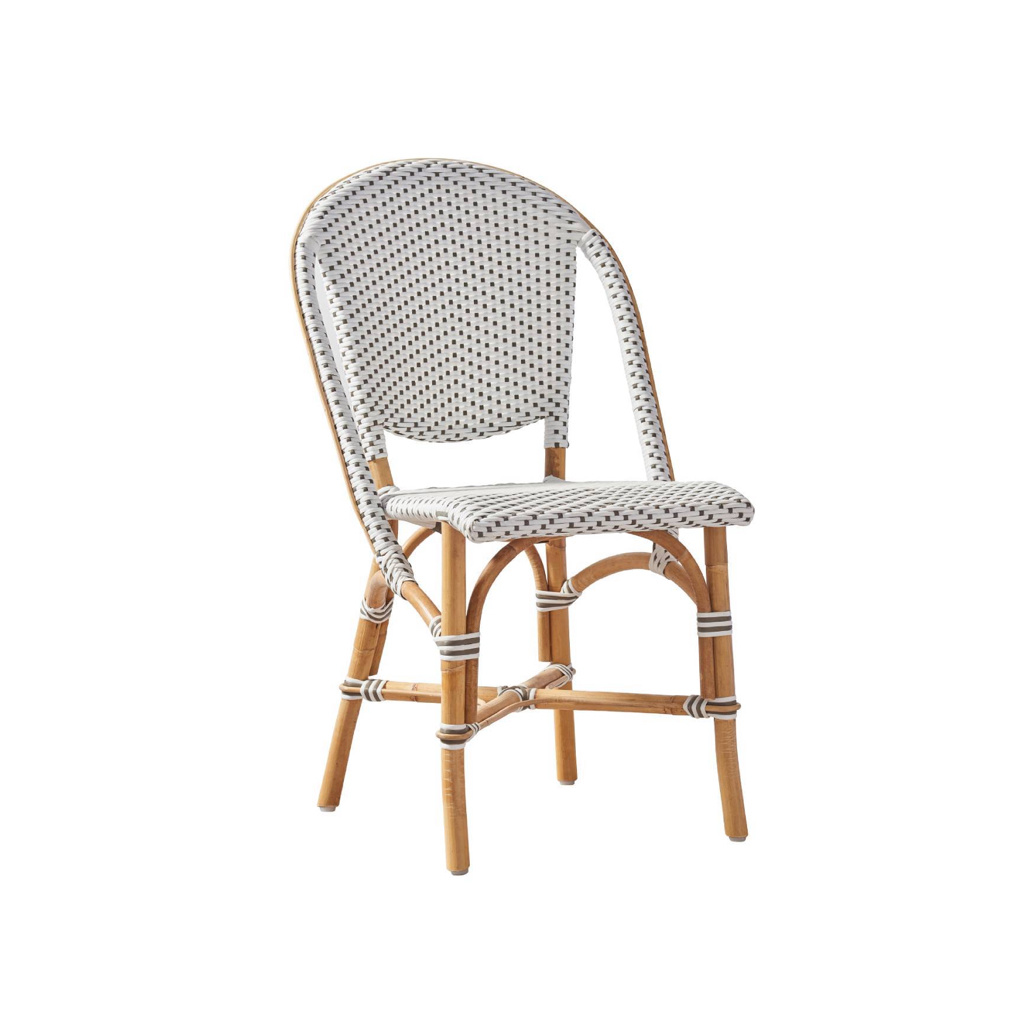 Sika-Design Sofie Rattan Bistro Side Chair - White