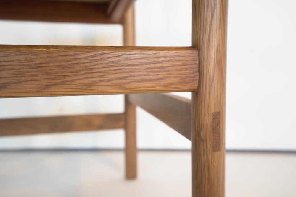 Sun at Six PREORDER Juniper Chair - White Oak and Leather - Sienna