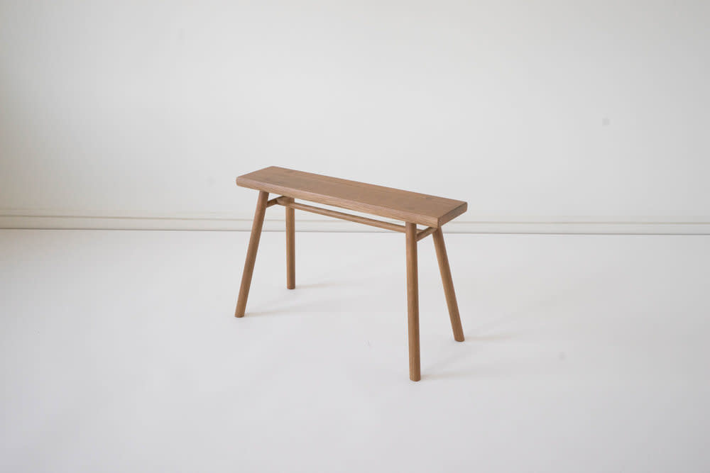 Sun at Six Wing Stand Slim Bench - Solid White Oak - Sienna