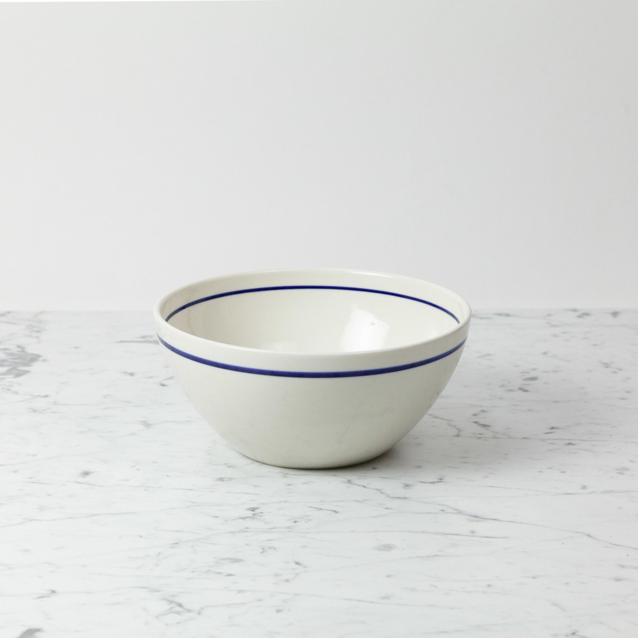 """John Julian John Julian Porcelain Serving Bowls with Blue Line - Medium - 10"""""""