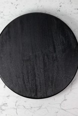 "Black Mango Wood Lazy Susan - 23"""