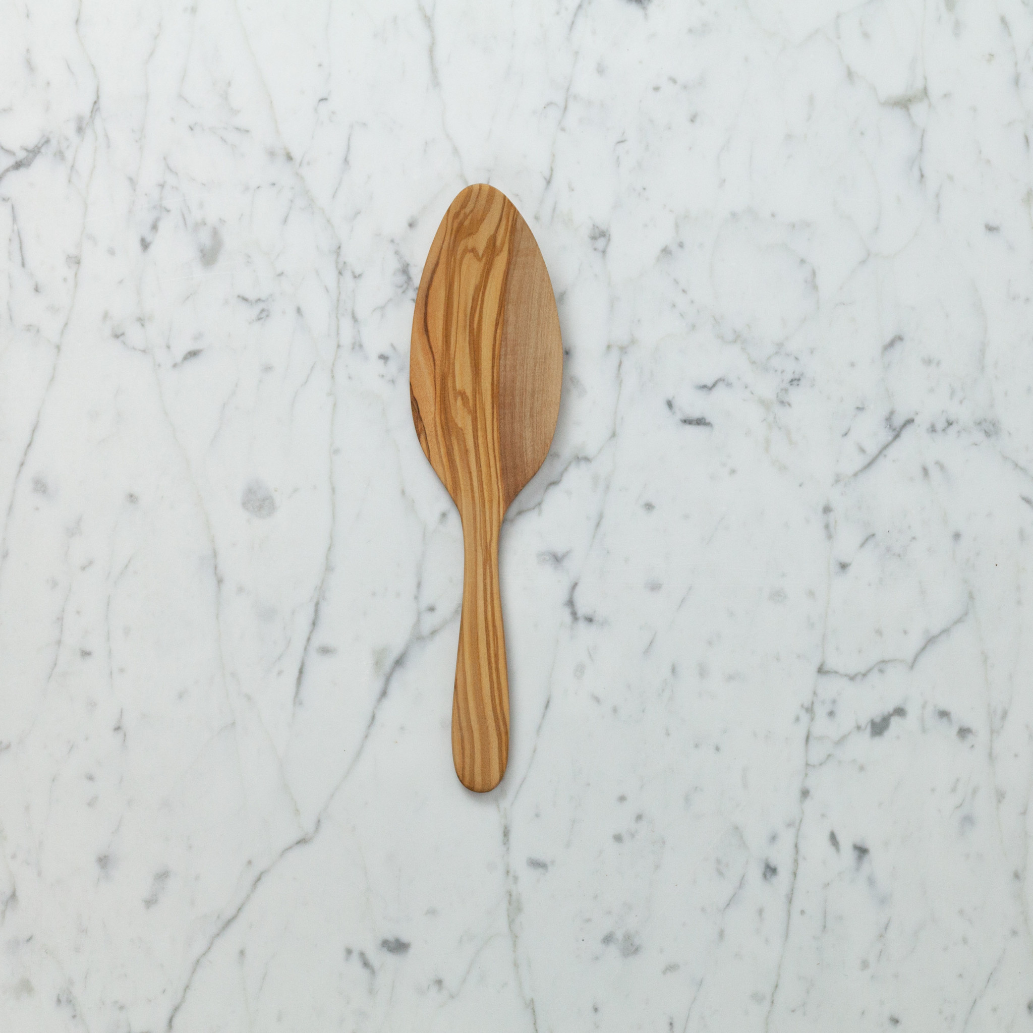 Olive Wood Cake Trowel Server