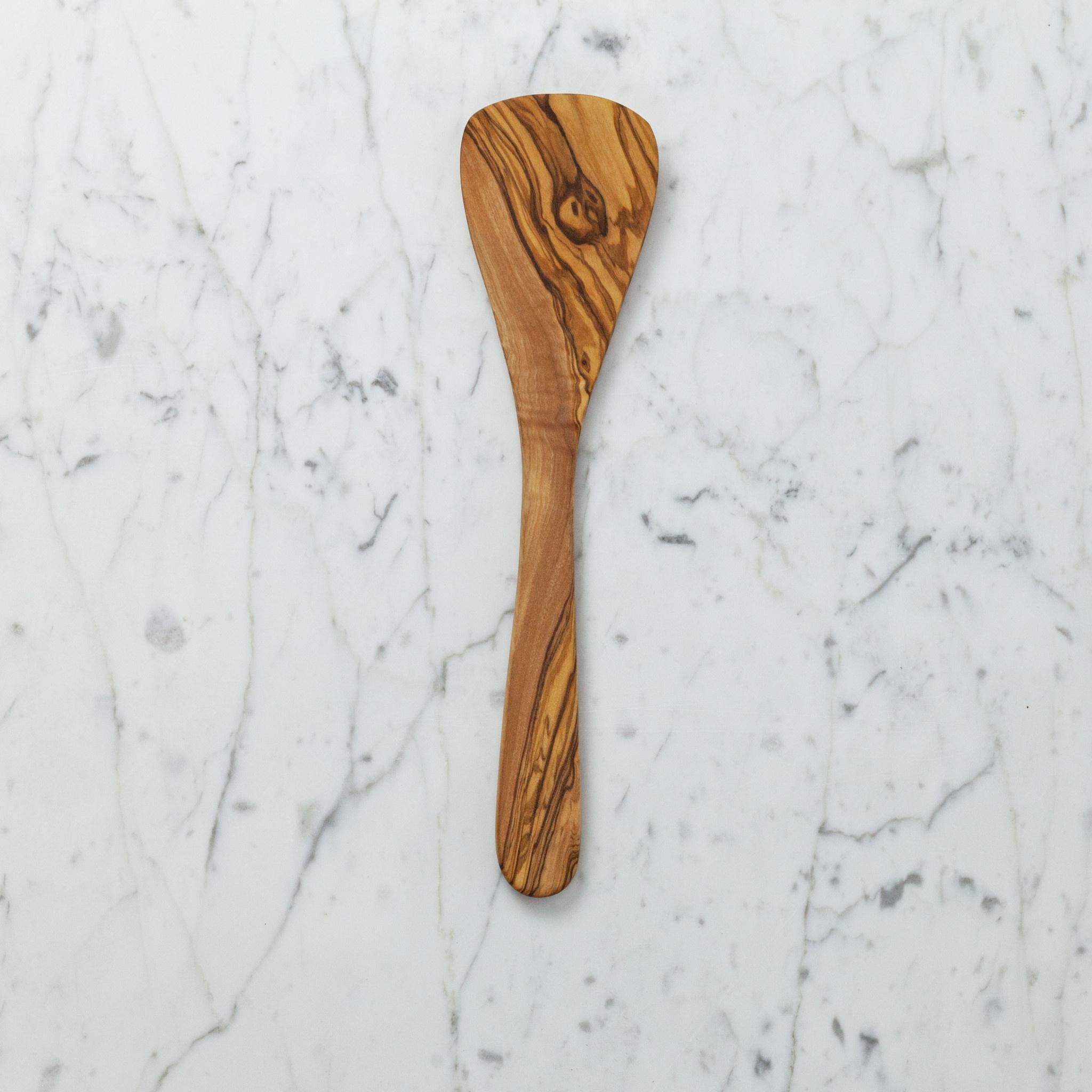 """Olive Wood Rounded Spatula - 11.5"""""""