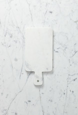 """White Marble Serving Board with Handle - 11"""""""