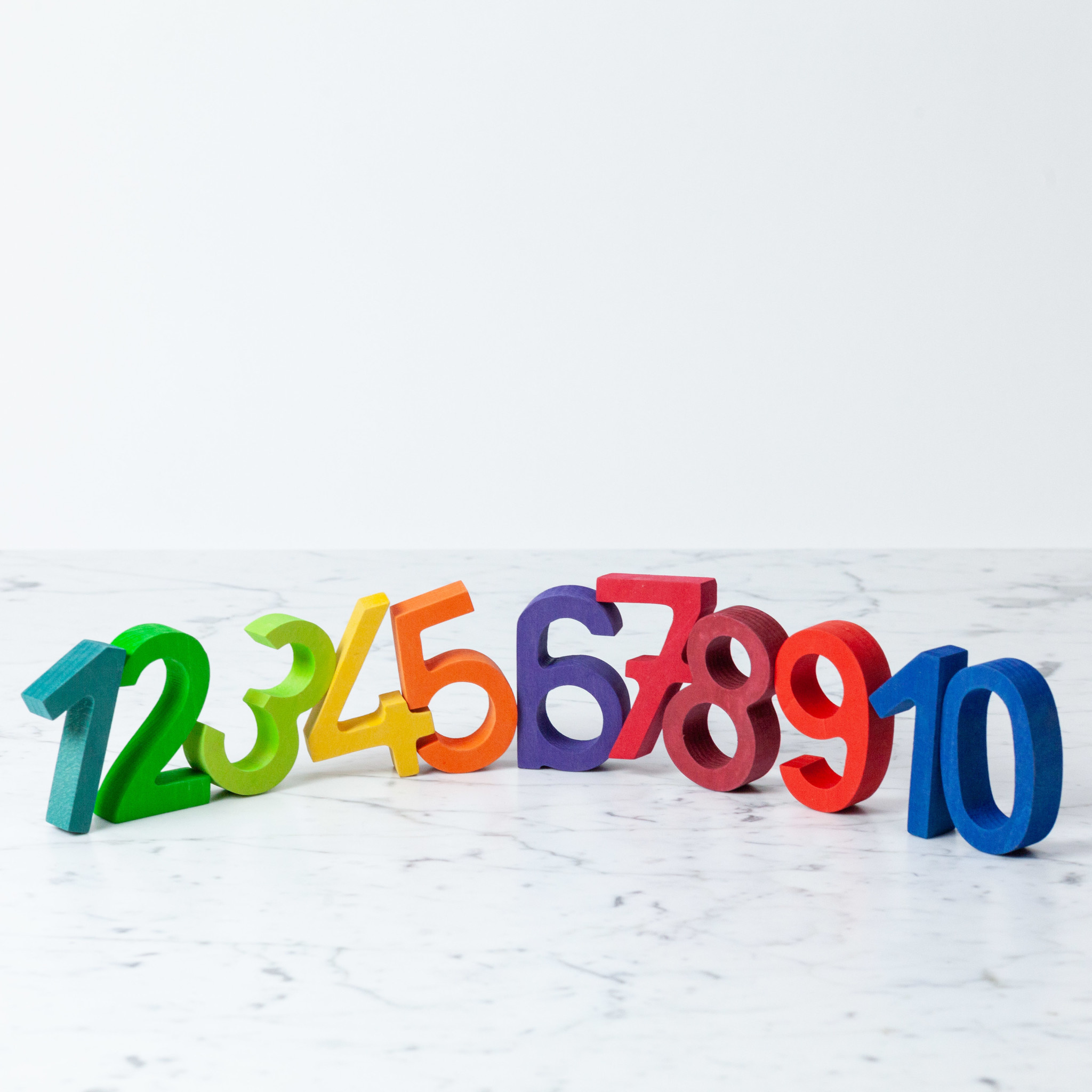 Grimm's Toys Big Wooden Numbers Counting Set