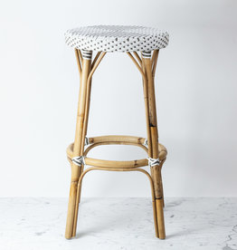 """Sika-Design Simone Rattan Bar Stool - White - 30.5"""""""
