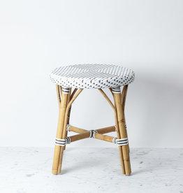 "Sika-Design Simone Rattan Short Dining Stool - White - 17"""