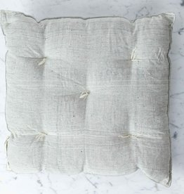 TENSIRA Handwoven Cotton Chair Cushion - Pale Grey - 16 x 16 inch