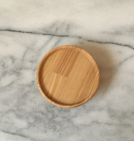 "Hasami Ash Wood Round Tray - Tiny - with Tight Seal - 3 1/4"" x 1 1/4"""