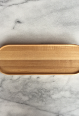 "Hasami Ash Wood Oval Tray - Long - 10"" x 3"""