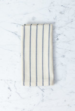 TENSIRA Handwoven Cotton Napkin - Off White with Slim Regular Grey Stripe - 19 x 19 in