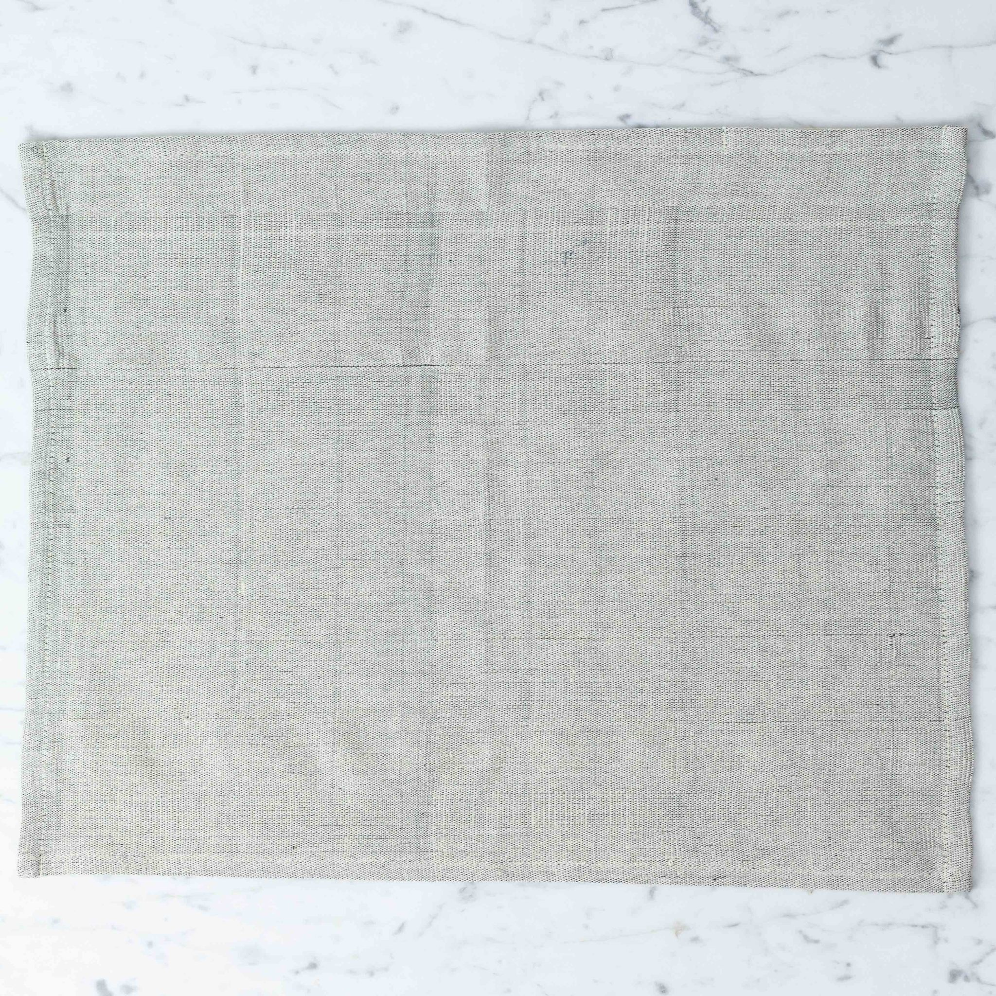 TENSIRA Handwoven Cotton Placemat - Pale Grey - 14 x 18 inch