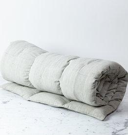 TENSIRA Handwoven Cotton Cot Mattress with Kapok Filling - Pale Grey - 30 x 80 inch