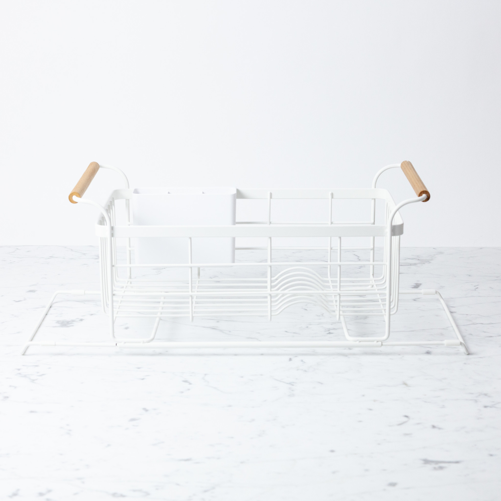 Tosca Over-The-Sink Dish Drainer Rack - White