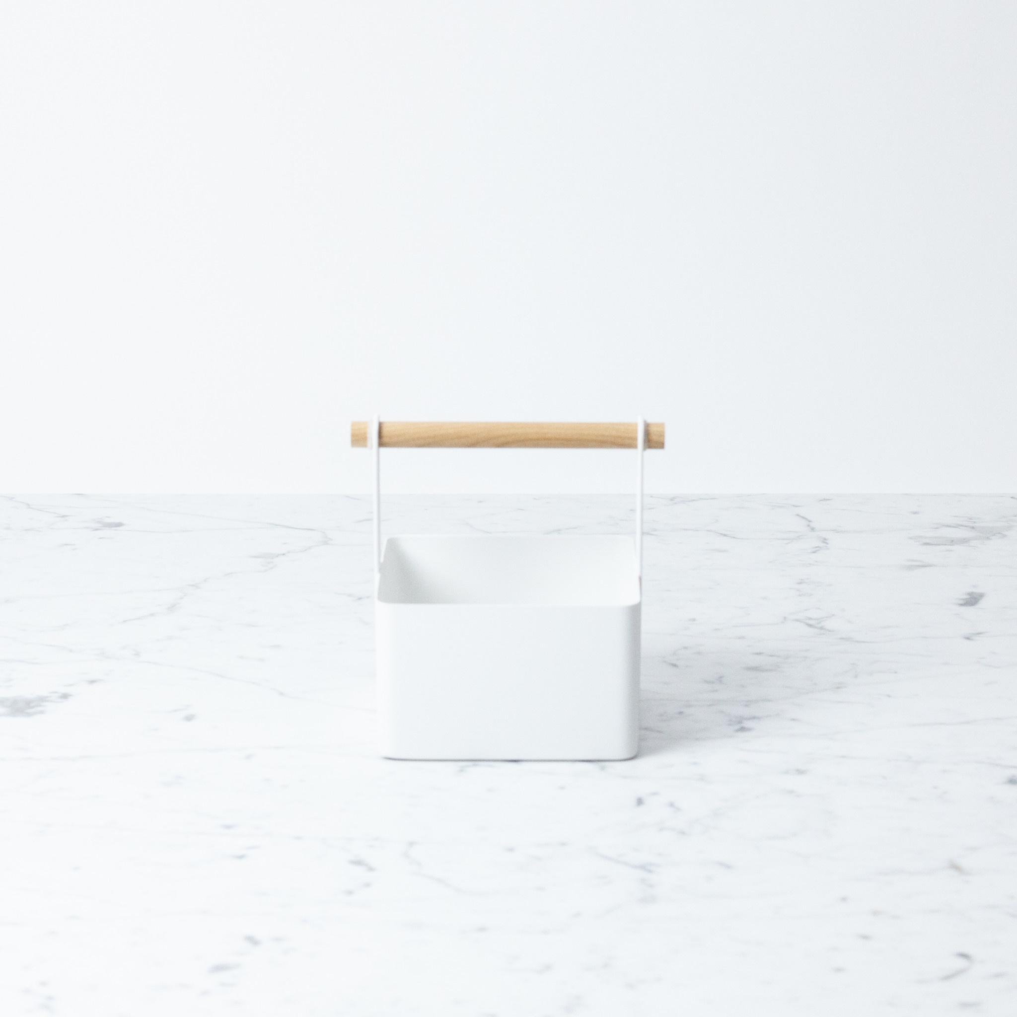 Square Utility Storage Tote - Tiny - White