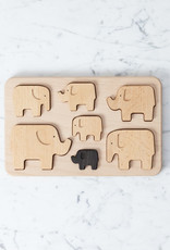 Wooden Stacking Elephants and Sorting Board