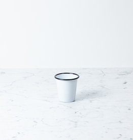 Black + White Enamel Short Tumbler - 10oz