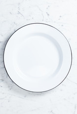 Black + White Enamel Buffet Serving Plate - 12""