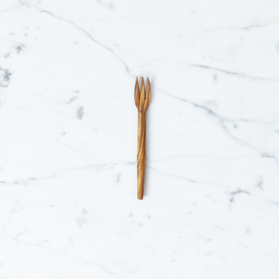 Little Pointy Olive Wood Fork - 4.5""