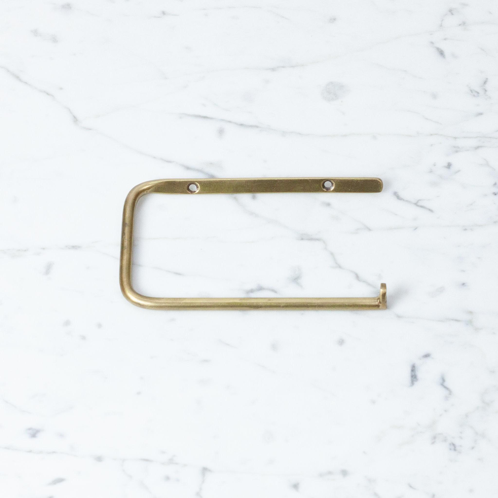 Brass Toilet Paper Holder for Single Roll
