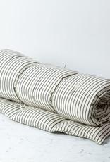 "TENSIRA 40 x 75"" - Handwoven Cotton Twin Size Bedroll - Off White with Slim Regular Black Stripe"