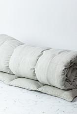 "TENSIRA 40 x 75"" - Handwoven Cotton Twin Size Bedroll - Pale Grey"