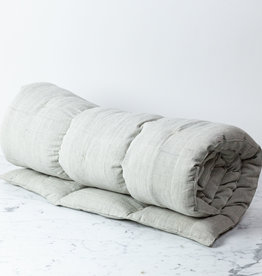 "TENSIRA 40 x 75"" - Handwoven Cotton Twin Size Bedroll - Pale Grey"