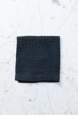 Lattice Waffle Washcloth - Cotton + Linen - Charcoal