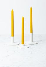 Notary Ceramics Notary Medium Candlestick Matte White
