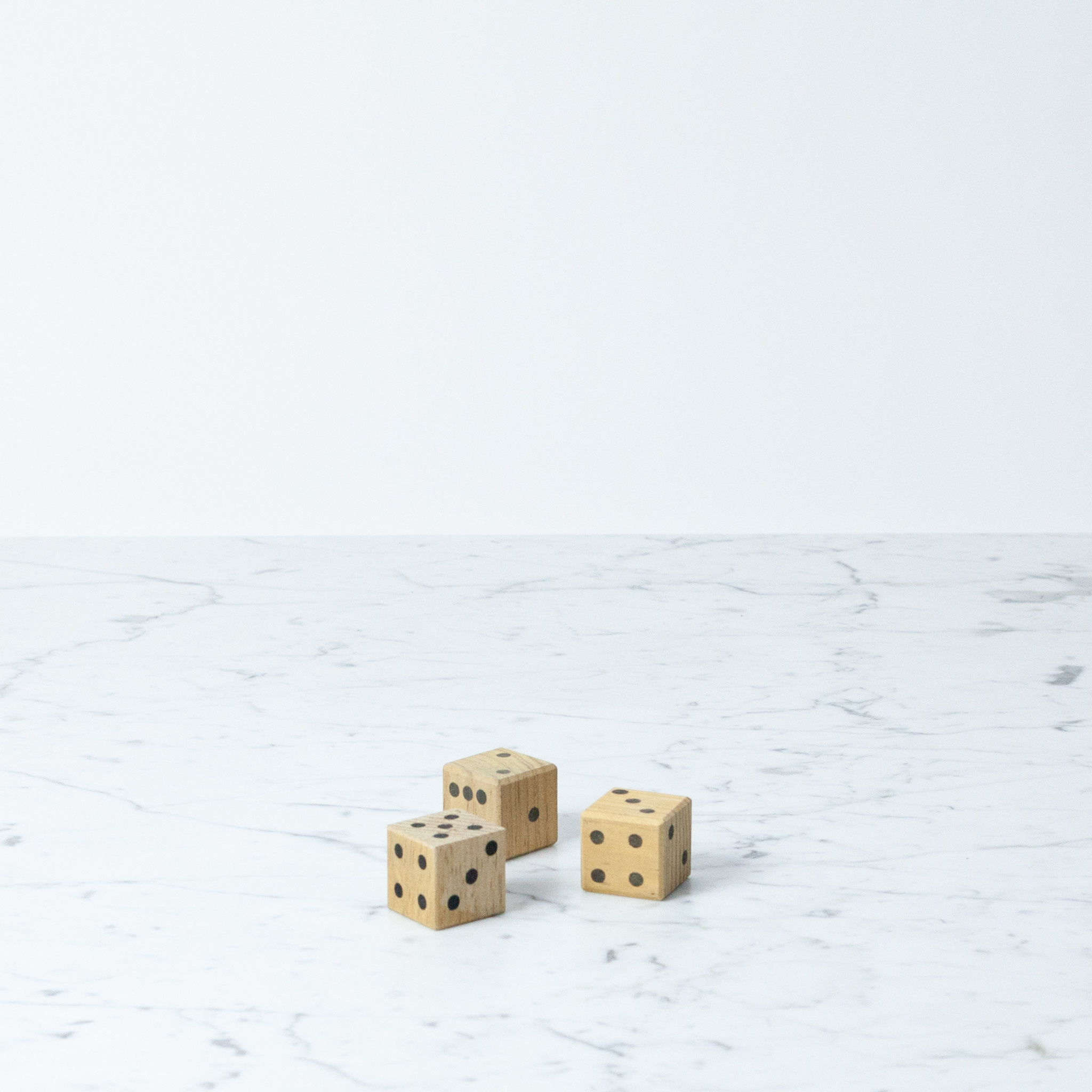 Individual Wooden Dice