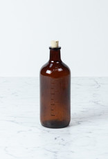 Brown Glass Bottle with Cork - 500 ml