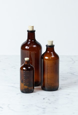 Brown Glass Bottle with Cork - 100 ml