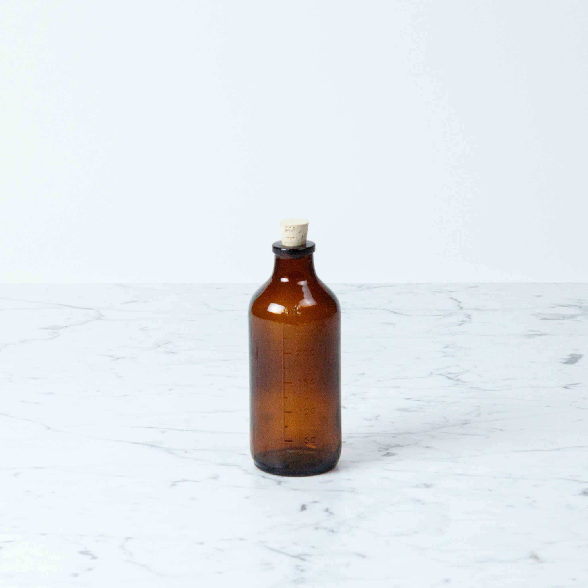 Brown Glass Bottle with Cork - 250 ml