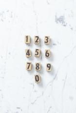 Wooden Number Stamp Set