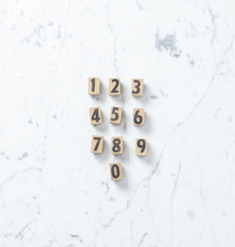 Wooden Number Stamp Set