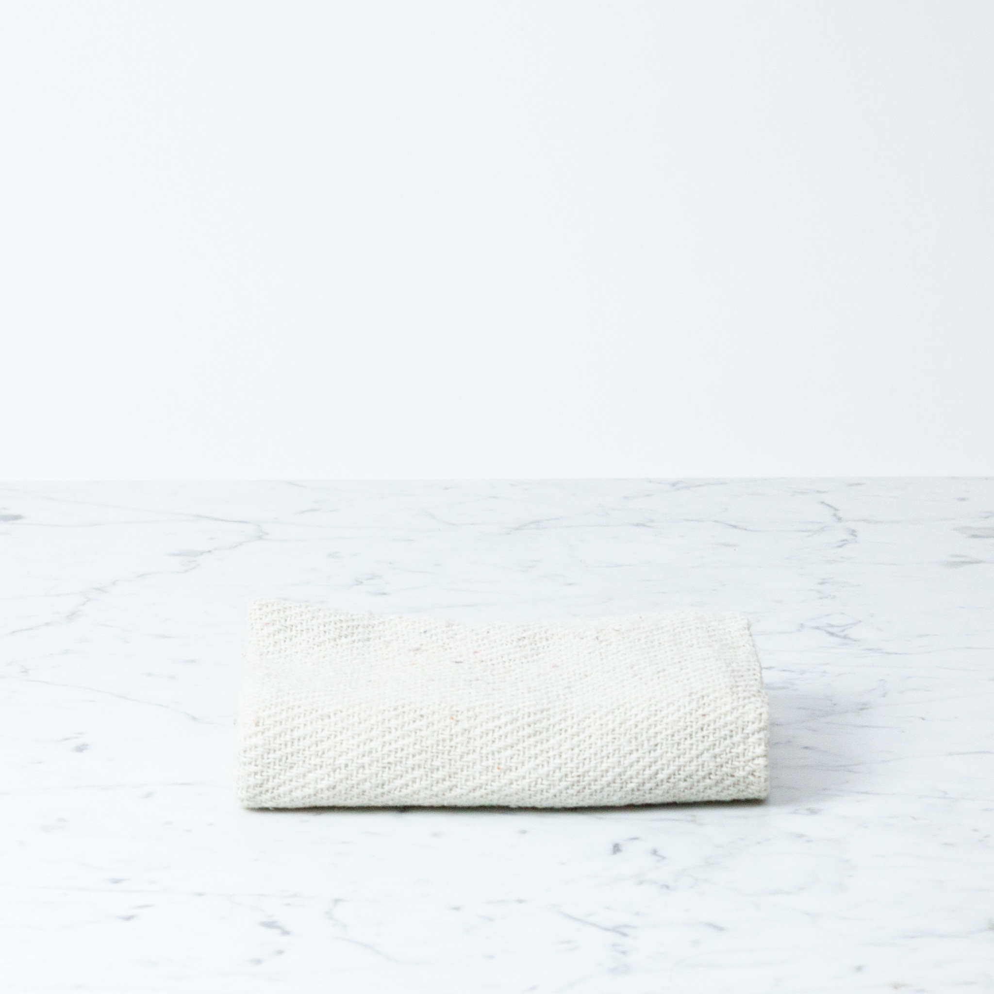 Simple Rustic Cotton Towel - Natural White