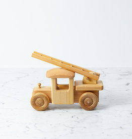 Swedish Wooden Adjustable Fire Truck with Ladder