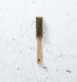 German Garden Tool Brush with Scraper - Stiff Union Blend Bristles