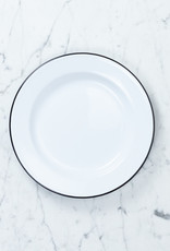 Black + White Enamel Dinner Plate - 10.25""