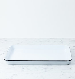 Black + White Enamel Rectangular Jellyroll Pan - 16 x 12.25""