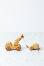 Swedish Wooden Adjustable Tow Truck with Car