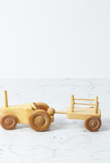 Swedish Wooden Adjustable Tractor with Trailer