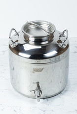 M5 Corporation Large Italian Stainless Steel Sansone Fusti Dispenser - 15 Liter