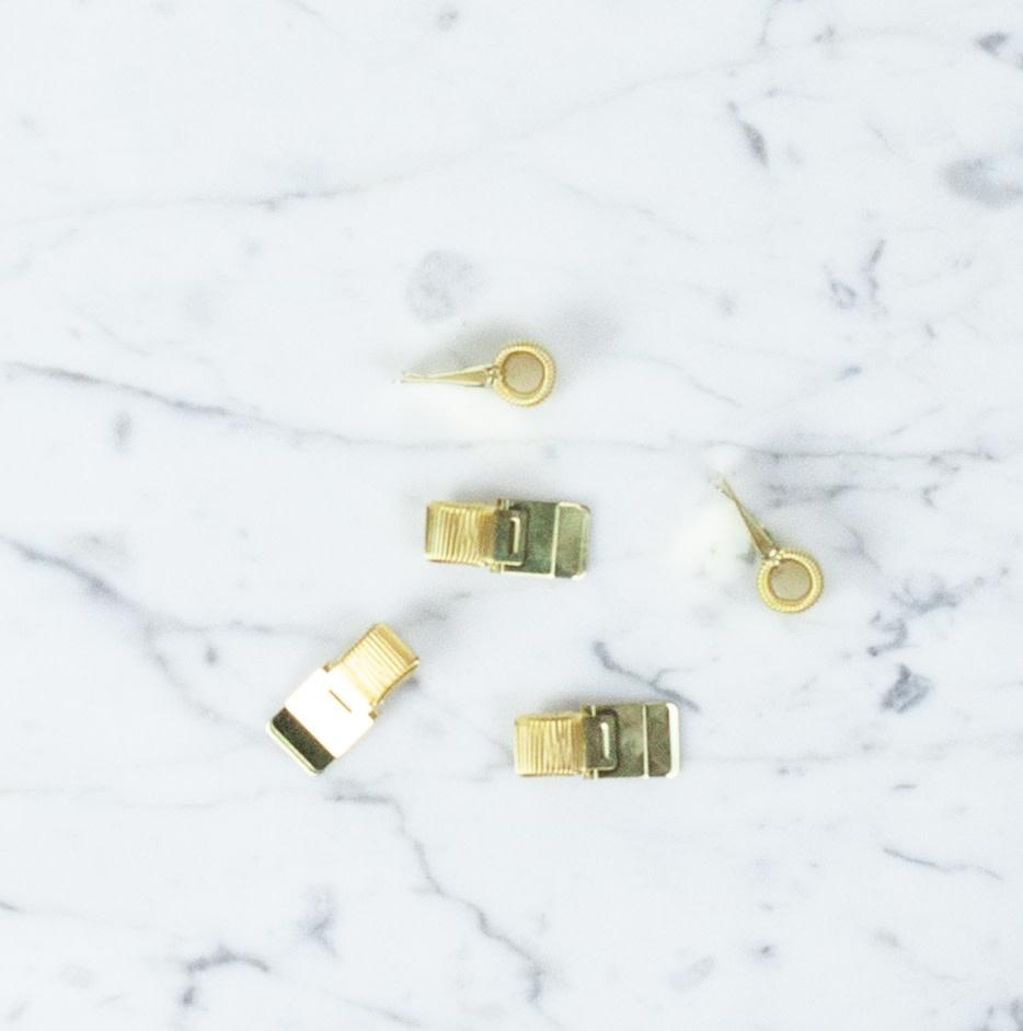Mini Clip Pen Holder - Gold